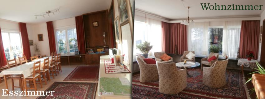 Esszimmer und Schlafzimmer
